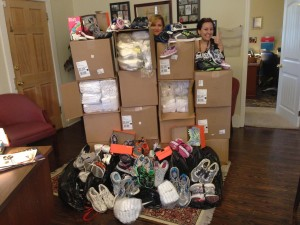 Heels4HEALS donated socks and shoes