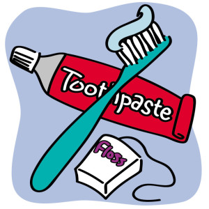 Clipart - toothbrush floss toothpaste