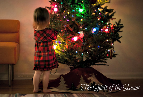 christmas tree girl text